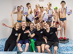 Соревнования по плаванию в фитнес-клубе N-ERGO