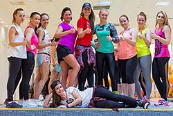 Мастер-класс по степ-аэробике в фитнес-клубе «С.С.С.Р. Дзержинский»