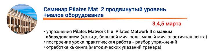 Pilates Mat 2 продвинутый уровень + малое оборудование