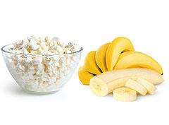 Что есть на ночь, творог или банан?