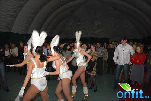 Новогодняя вечеринка в фитнес-клубе World Gym