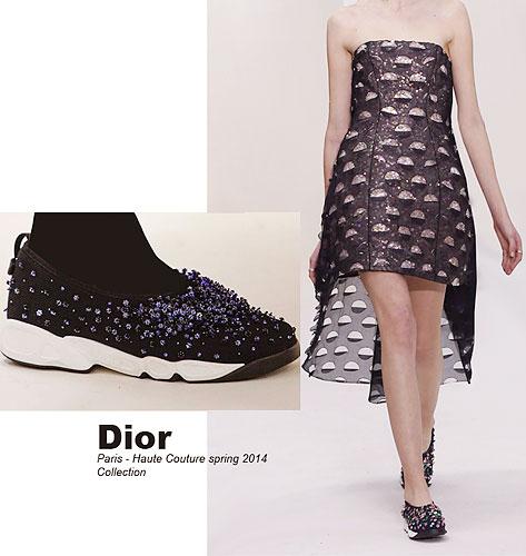 8d738d505b9b Модный дом Christan Dior представил свои кроссовки в кутюрной коллекции  «Весна-лето-2014